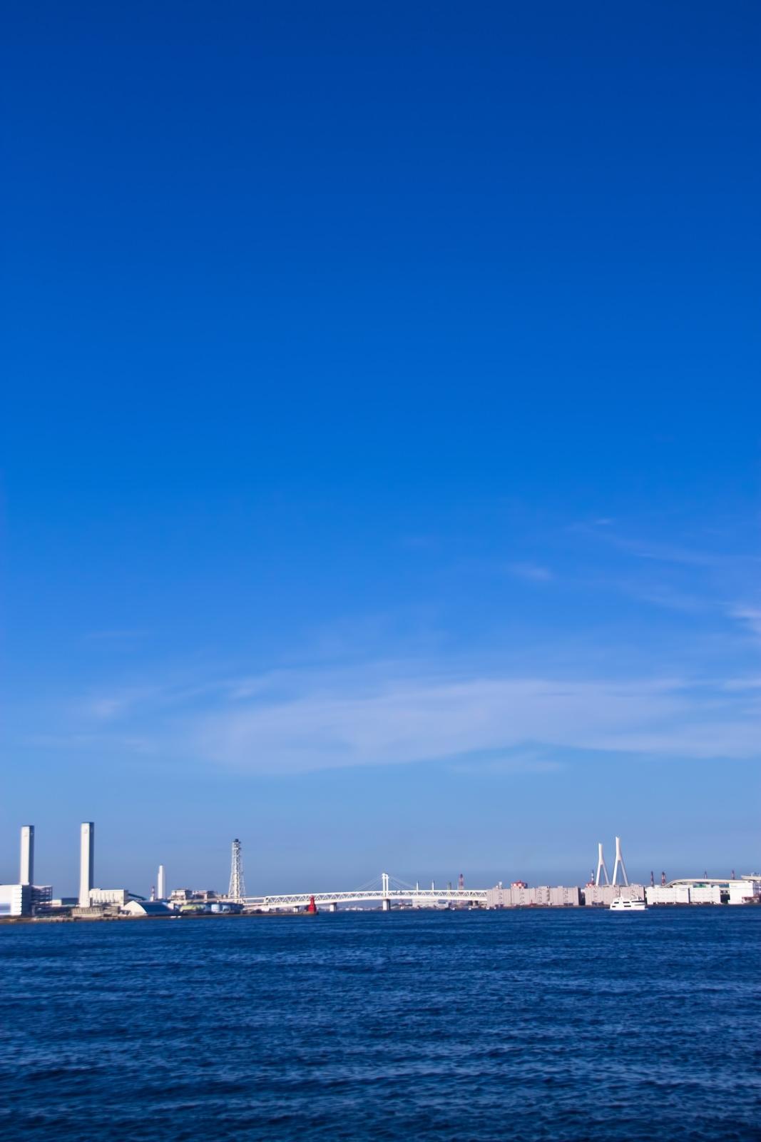 横浜の海と青空横浜の海と青空