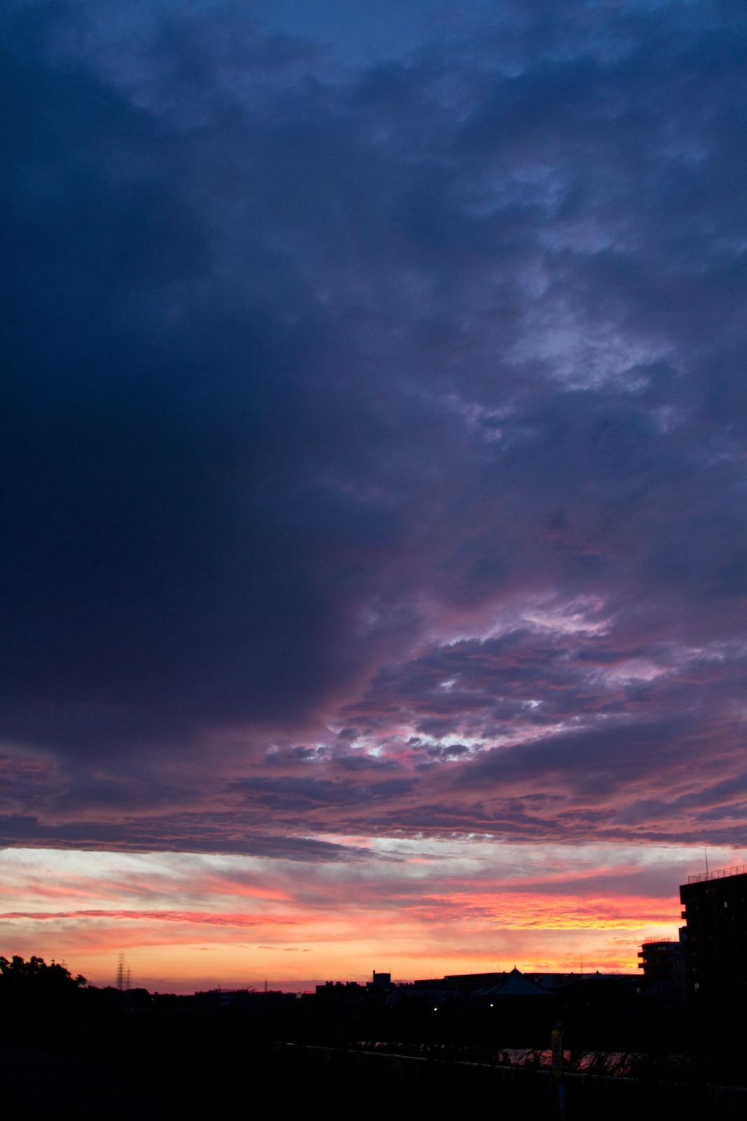 夕暮れのオレンジ空夕暮れのオレンジ空