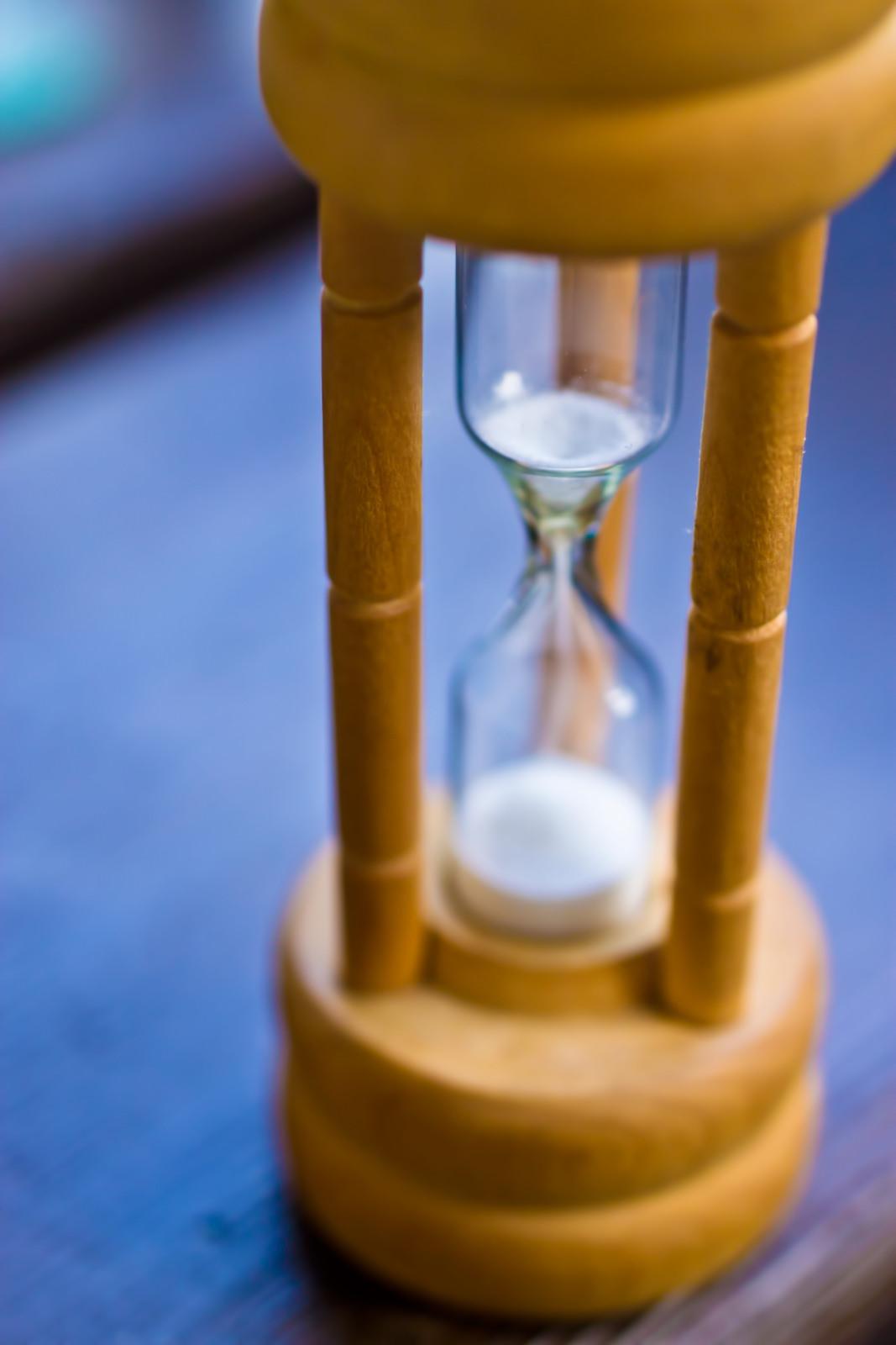 白い砂時計白い砂時計