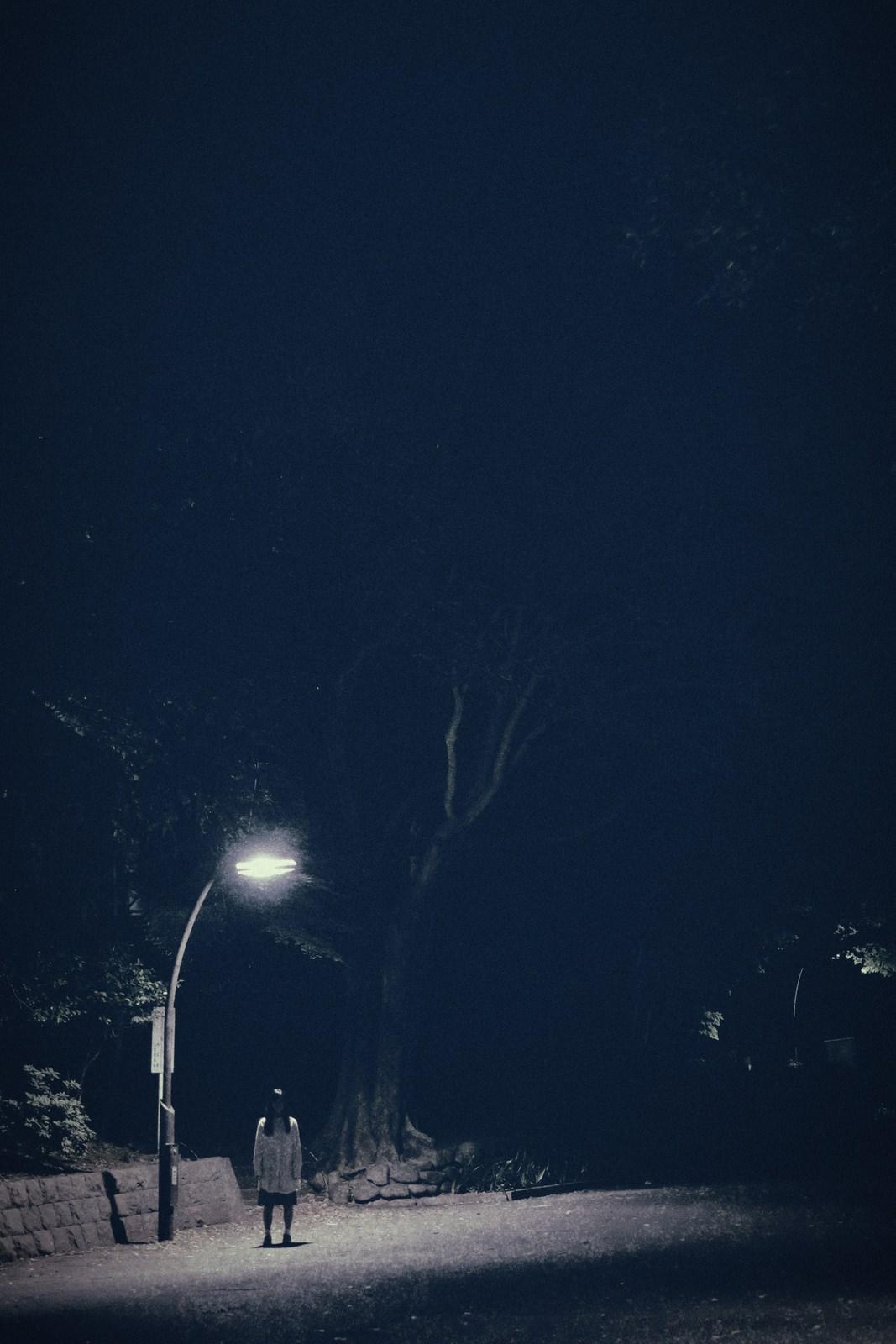 街灯下の女街灯下の女