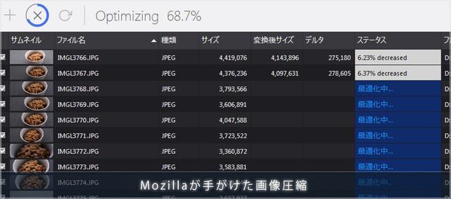 JPEGmini の代替に! JPEG圧縮技術「mozjpeg」を使った無料ソフト