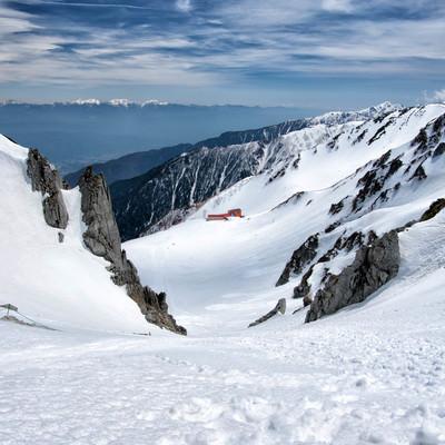 2650メートルの高さに建てられた千畳敷ロープウェイの写真