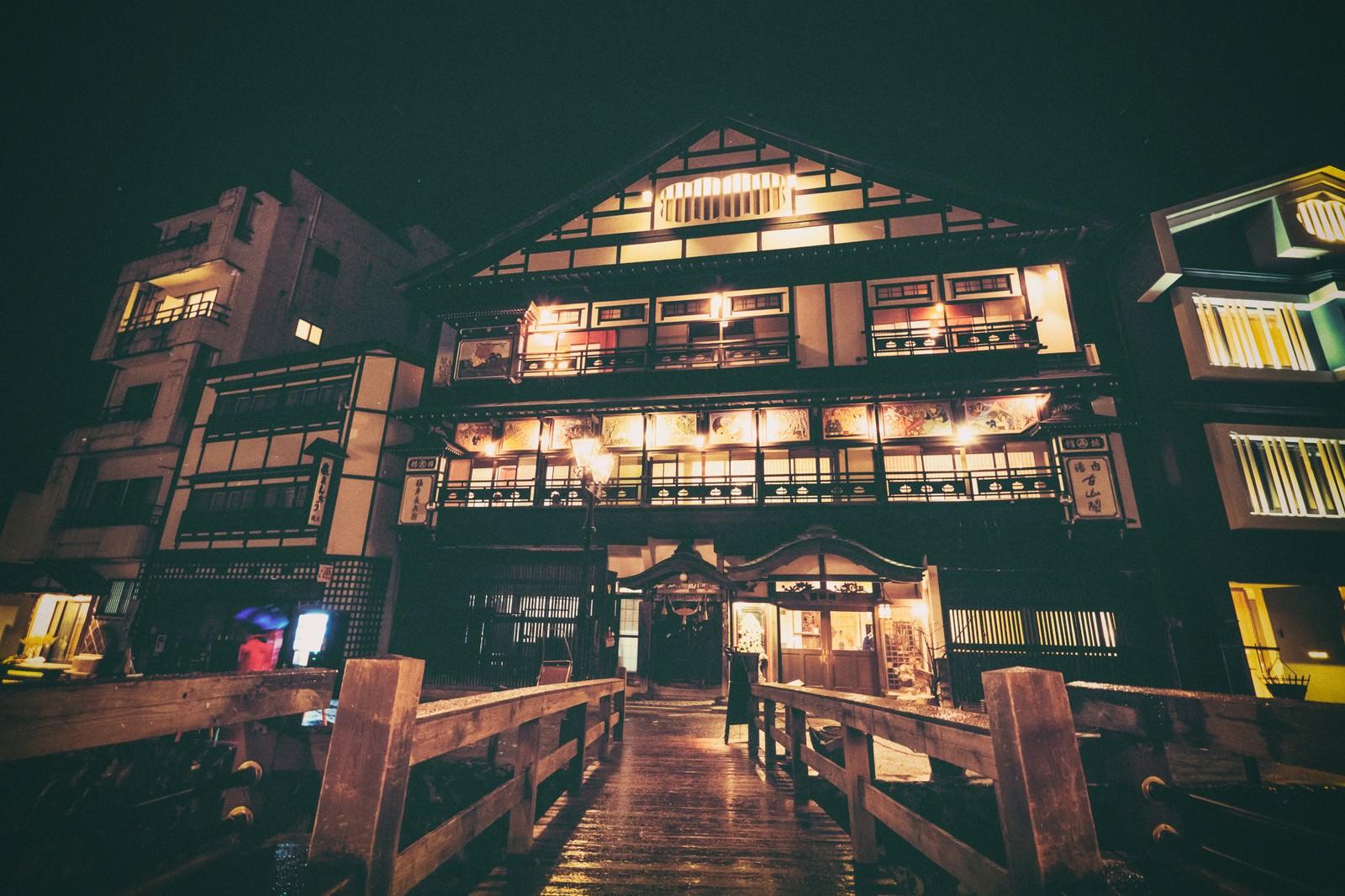 「歴史ある銀山温泉街」の写真