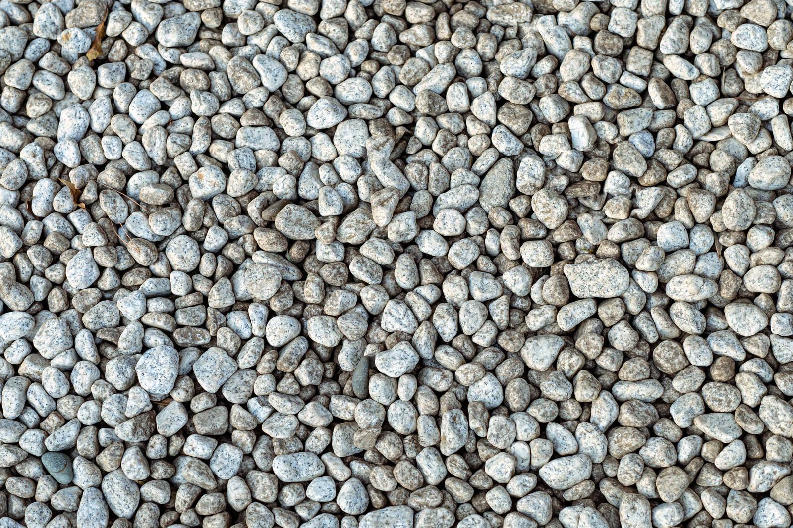 「庭に敷く砂利(テクスチャ)」の写真
