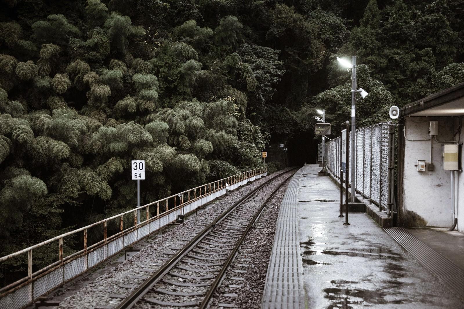 「三江線・宇都井駅(廃線)」の写真