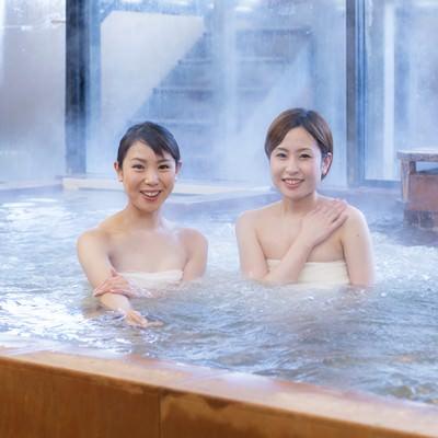 「湯けむり北郷温泉美人」の写真素材