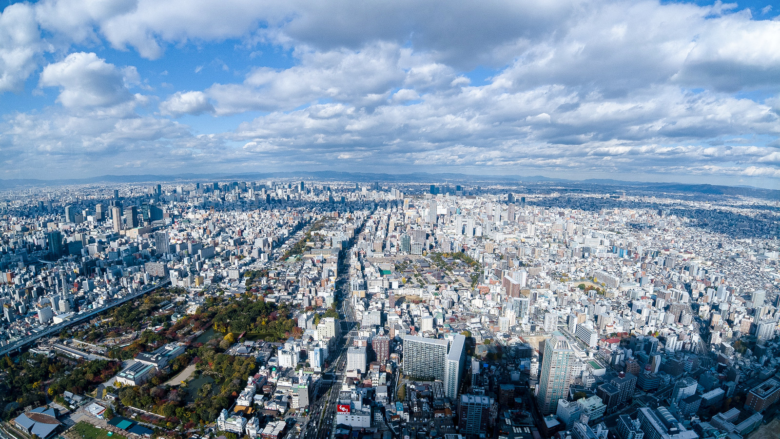 「あべのハルカスからの眺め(大阪市阿倍野区)」の写真