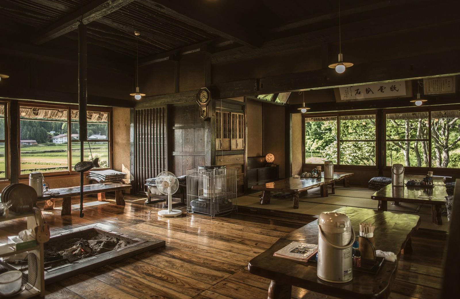 「古民家レストランいっぷく亭内(鏡野町)」の写真