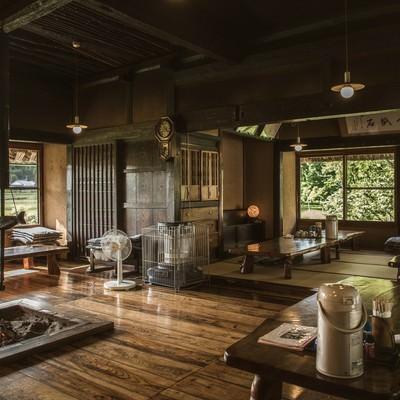 「古民家レストランいっぷく亭内(鏡野町)」の写真素材