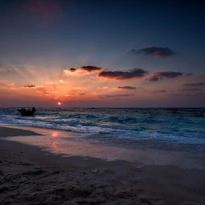 与論島の夕日の写真