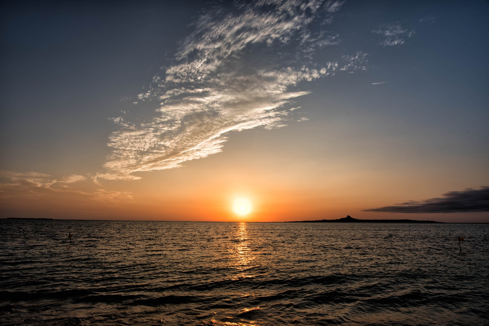 「伊江島に沈む夕日」の写真