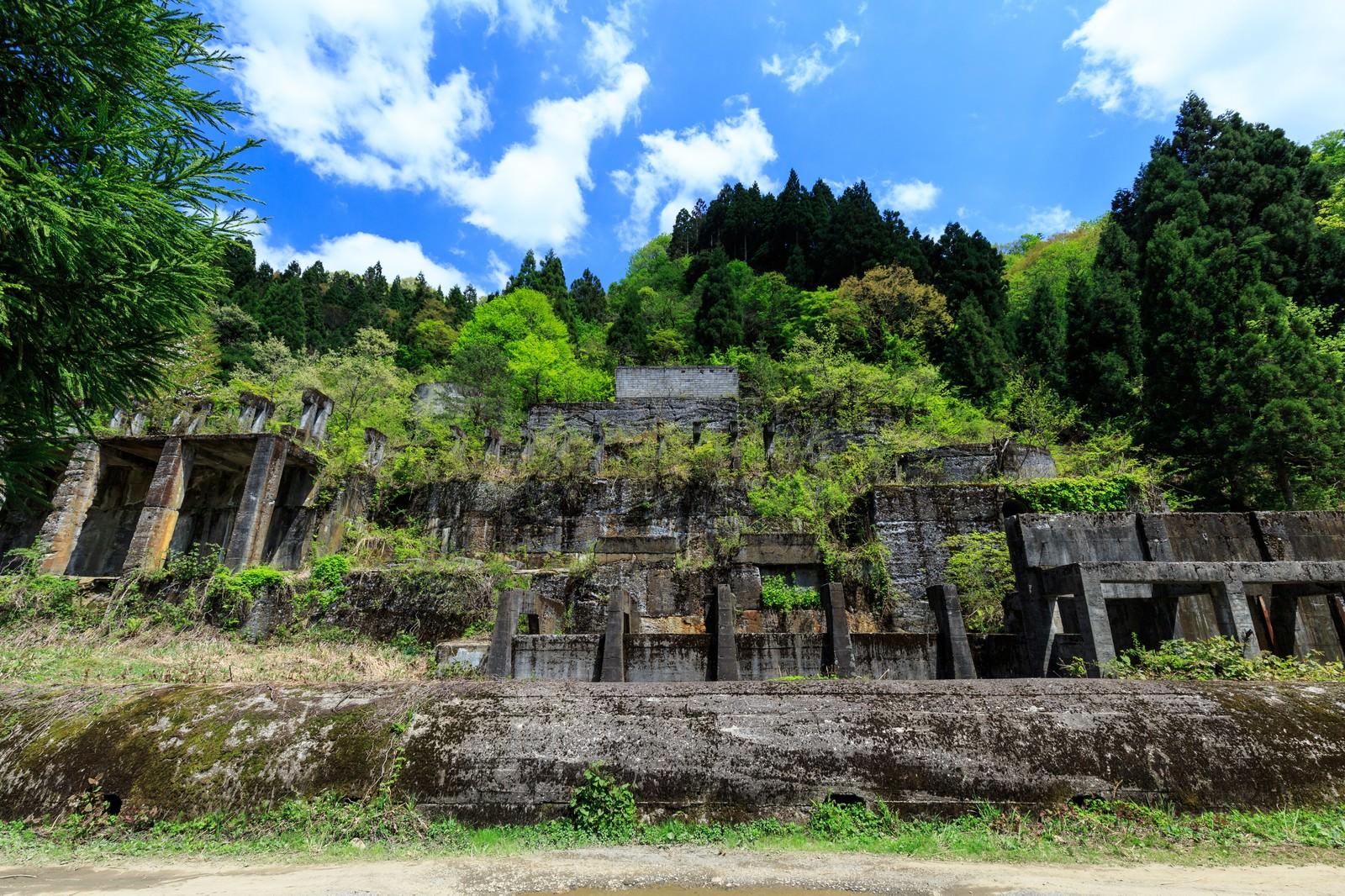 「土倉鉱山跡」の写真