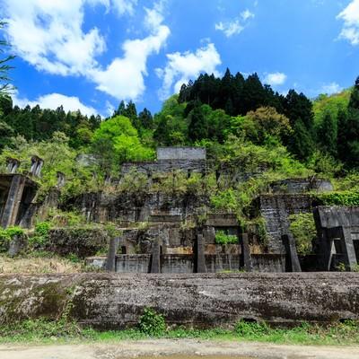 「土倉鉱山跡」の写真素材
