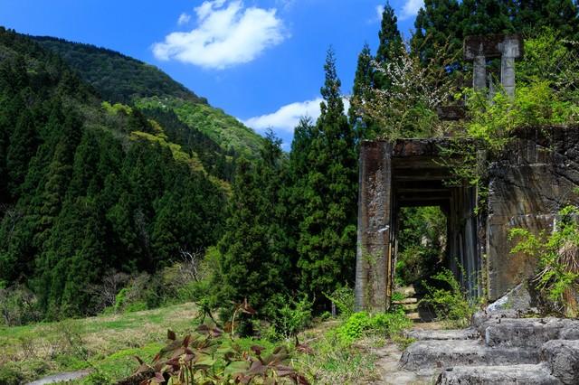 滋賀県長浜市にある土倉鉱山跡の写真