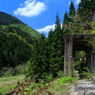「滋賀県長浜市にある土倉鉱山跡」の写真素材