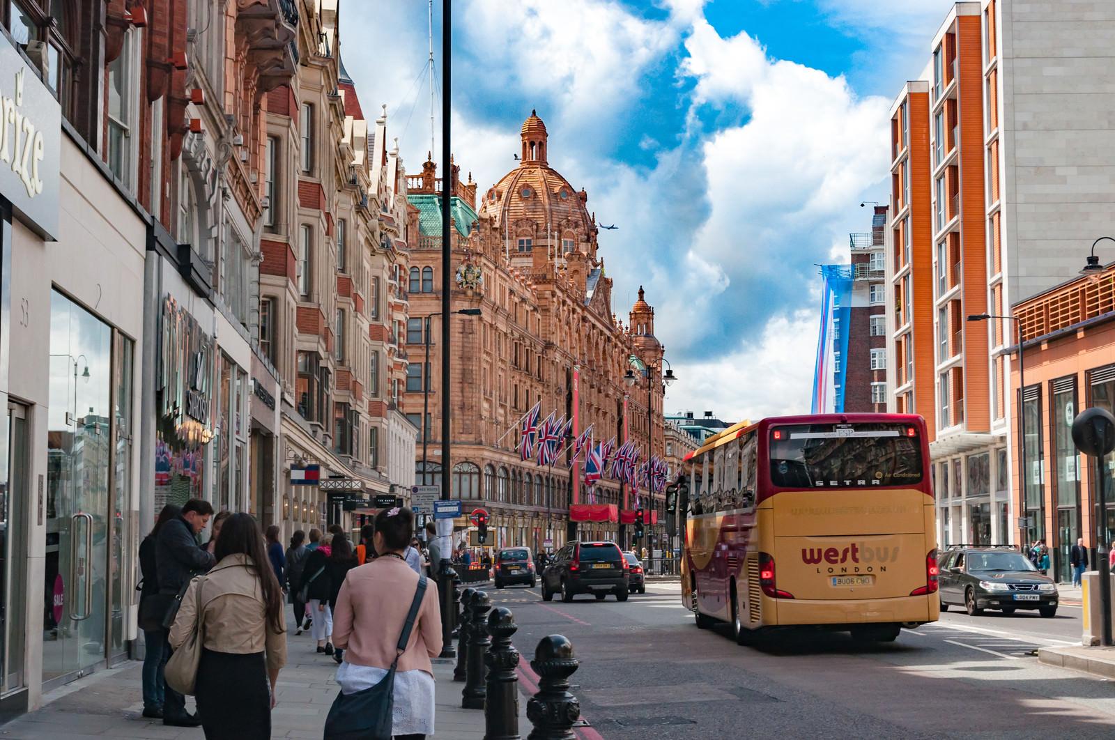 「ナイツブリッジの街並み(ロンドン)」の写真