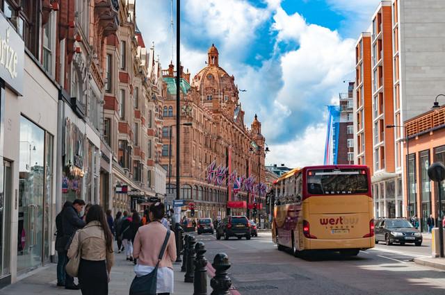 ナイツブリッジの街並み(ロンドン)の写真