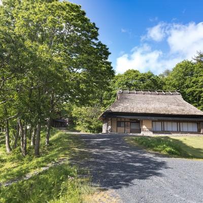 「日本の原風景が残る岡山県鏡野町のうたたねの里」の写真素材
