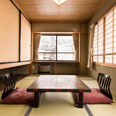 「平湯温泉栄太郎の客室(和室)」の写真素材