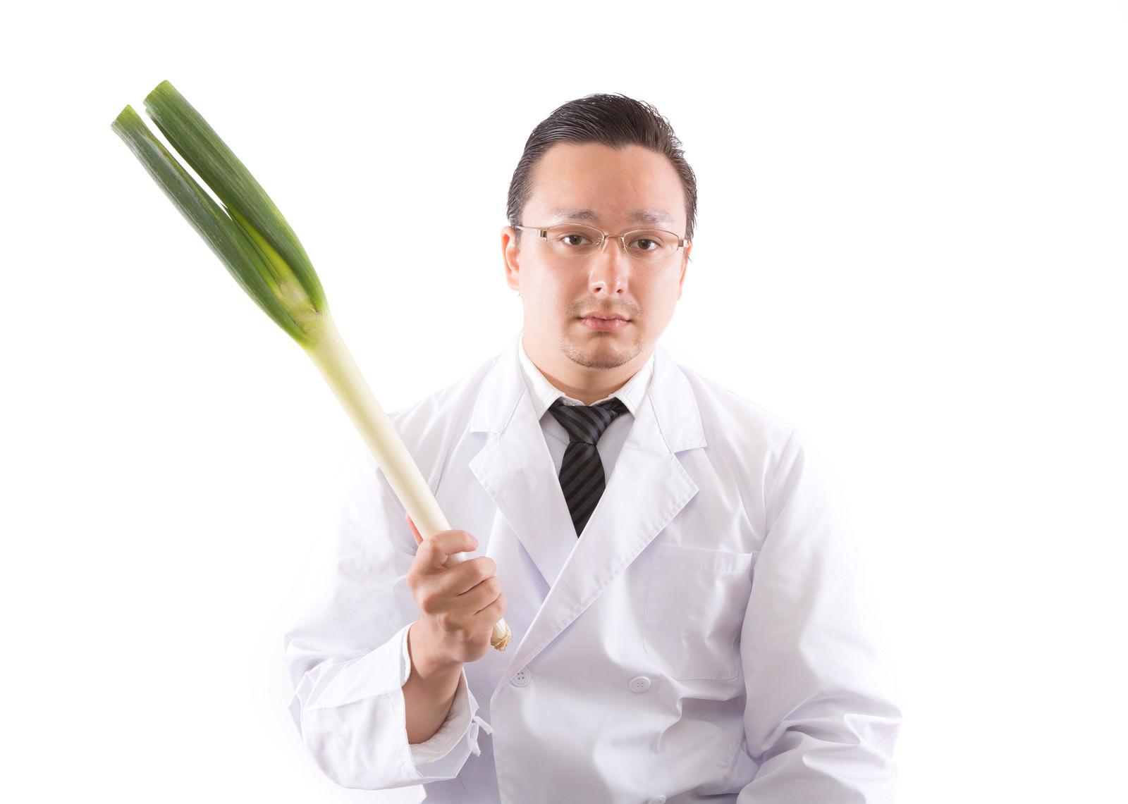 「風邪予防には葱でしょ」の写真[モデル:Max_Ezaki]