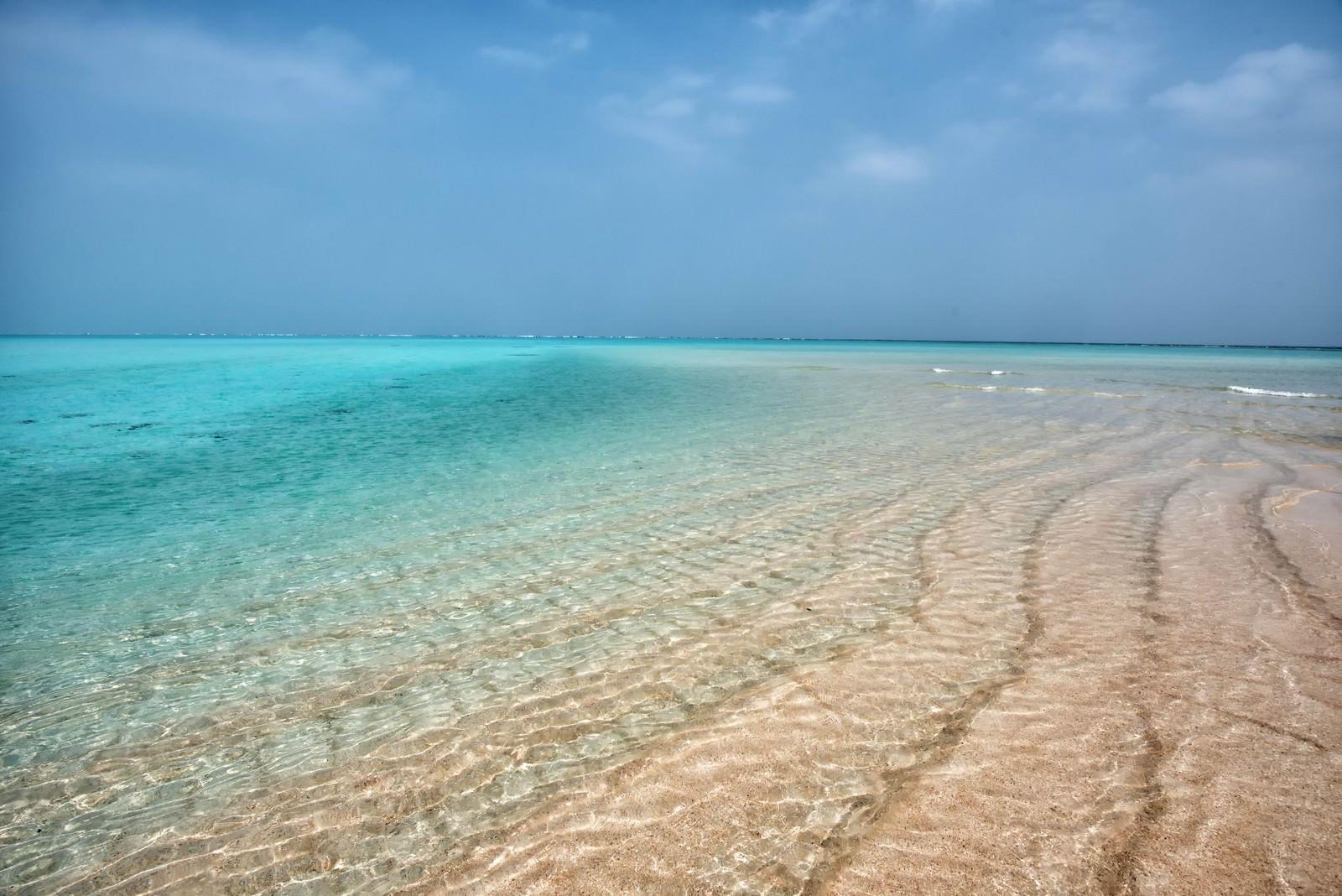 「百合ヶ浜の砂洲」の写真