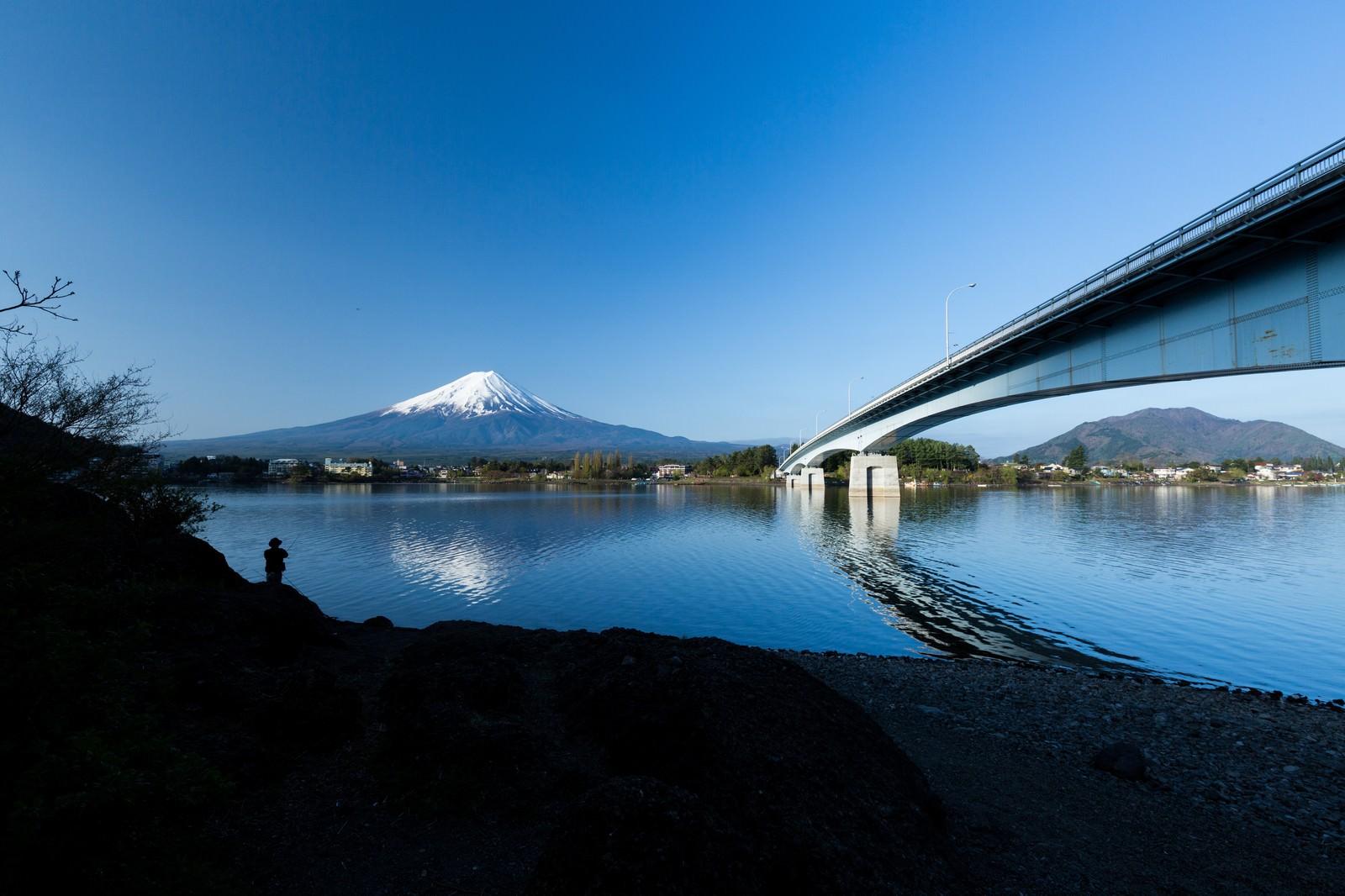 「河口湖と富士山河口湖と富士山」のフリー写真素材を拡大