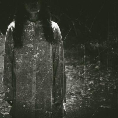 「古い女性の写真(フィルム)」の写真素材