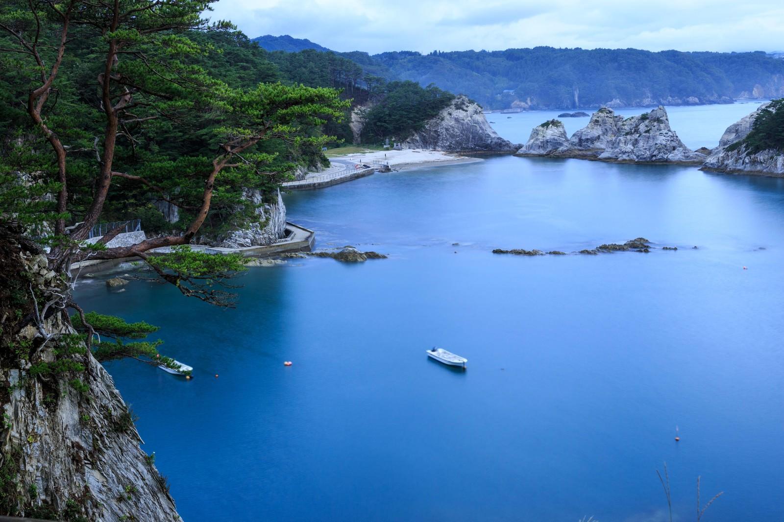 「浄土ヶ浜の様子」の写真