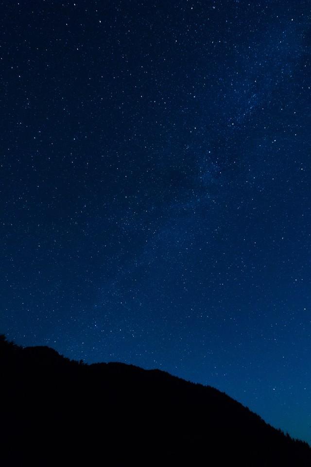 岡山県鏡野町から眺める星空の写真