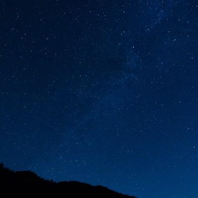 「岡山県鏡野町から眺める星空」の写真素材
