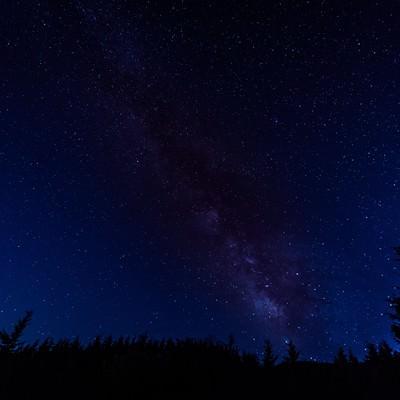 「夜空いっぱいの星空(鏡野町笠菅峠)」の写真素材