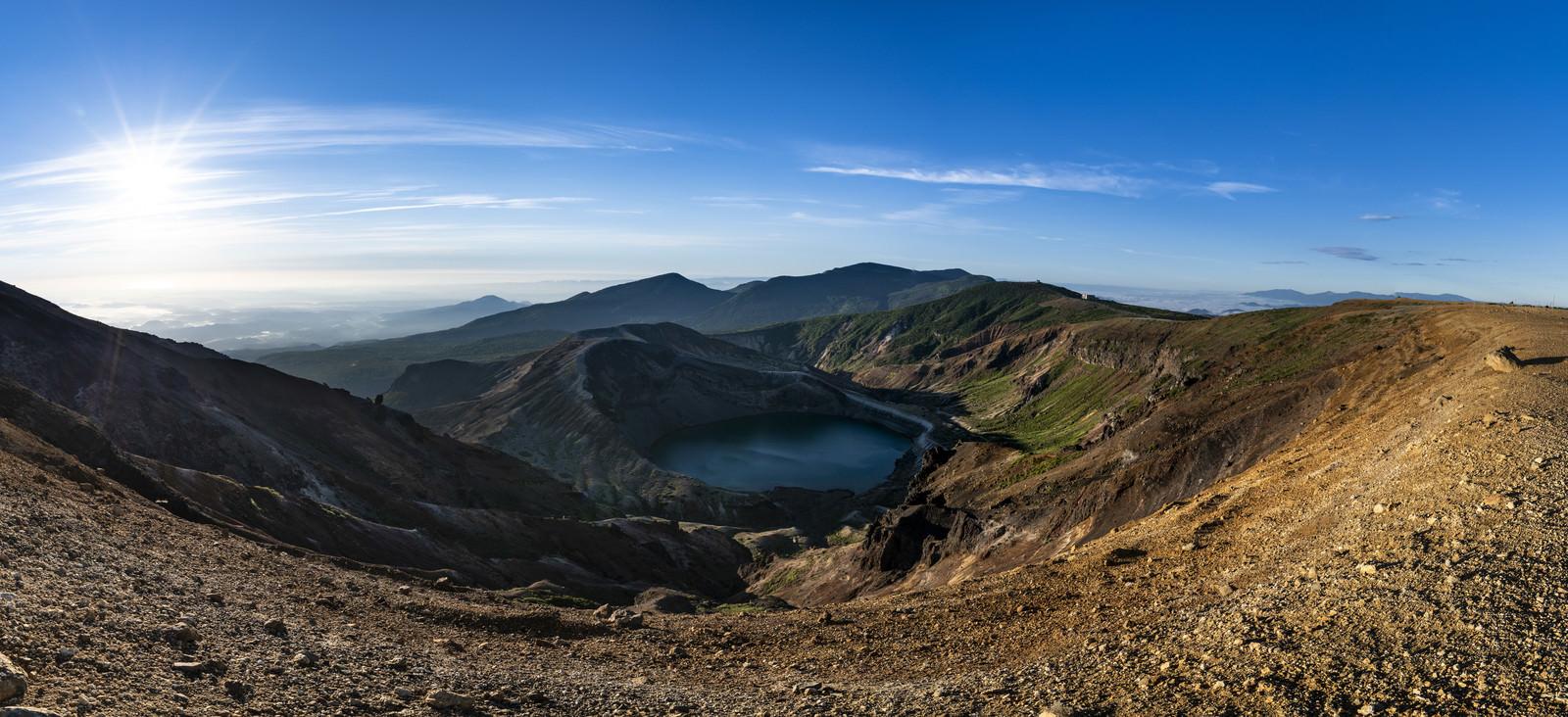 「蔵王山の火口(大パノラマ)」の写真