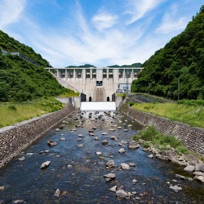 「苫田ダム(岡山県鏡野町)」の写真素材