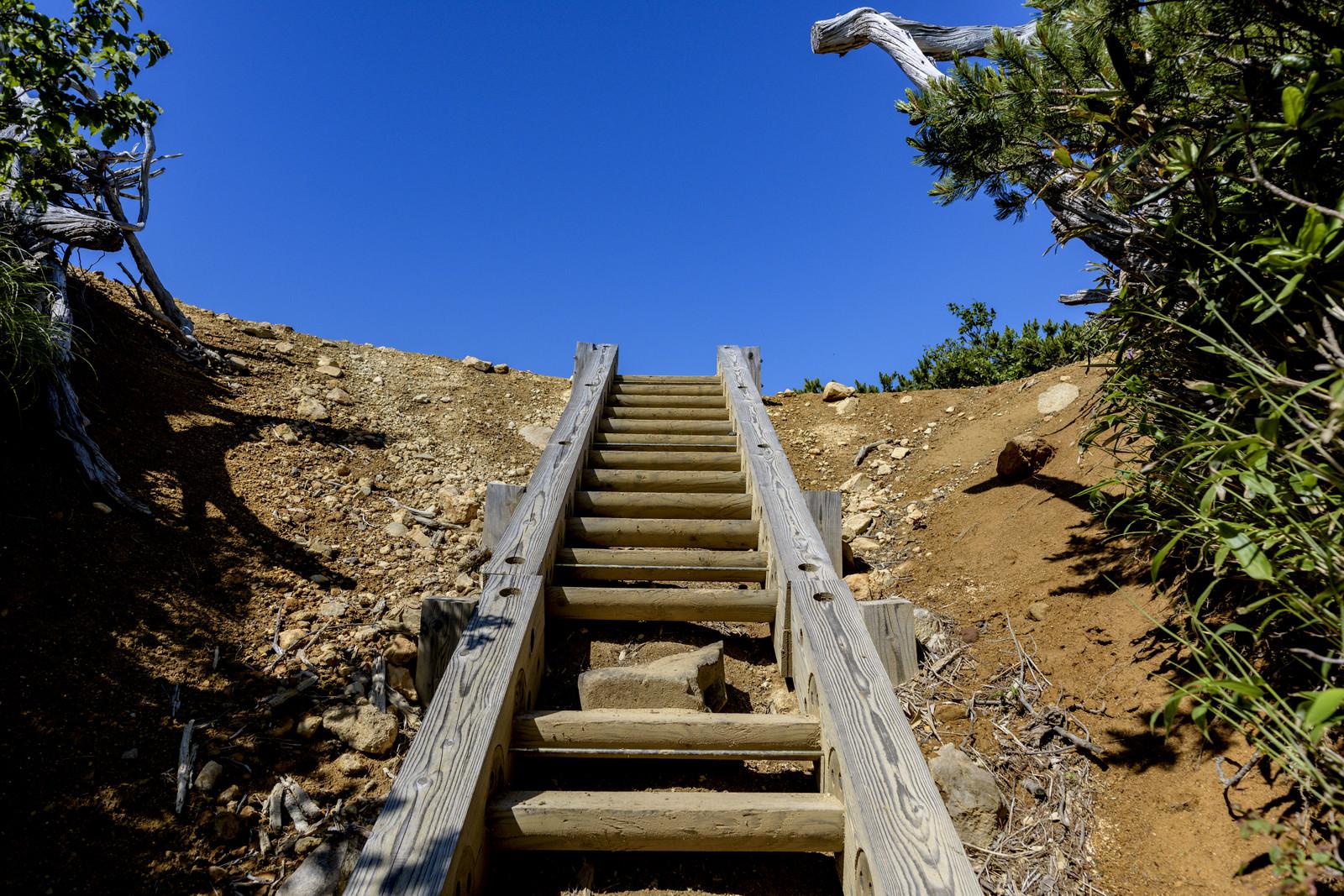 「あと一息で登り終わるところ(燧ヶ岳)」の写真