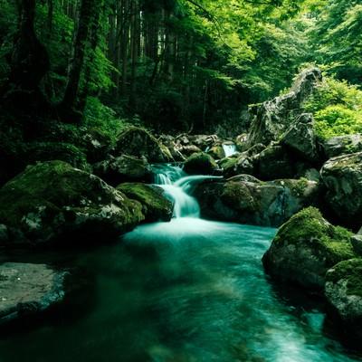 「白賀渓谷(しらがけいこく)」の写真素材