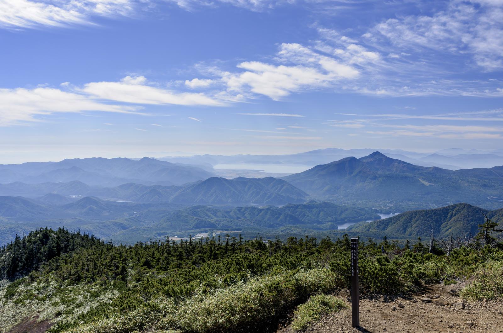 「西大巓から見る磐梯山(ばんだいさん)」の写真