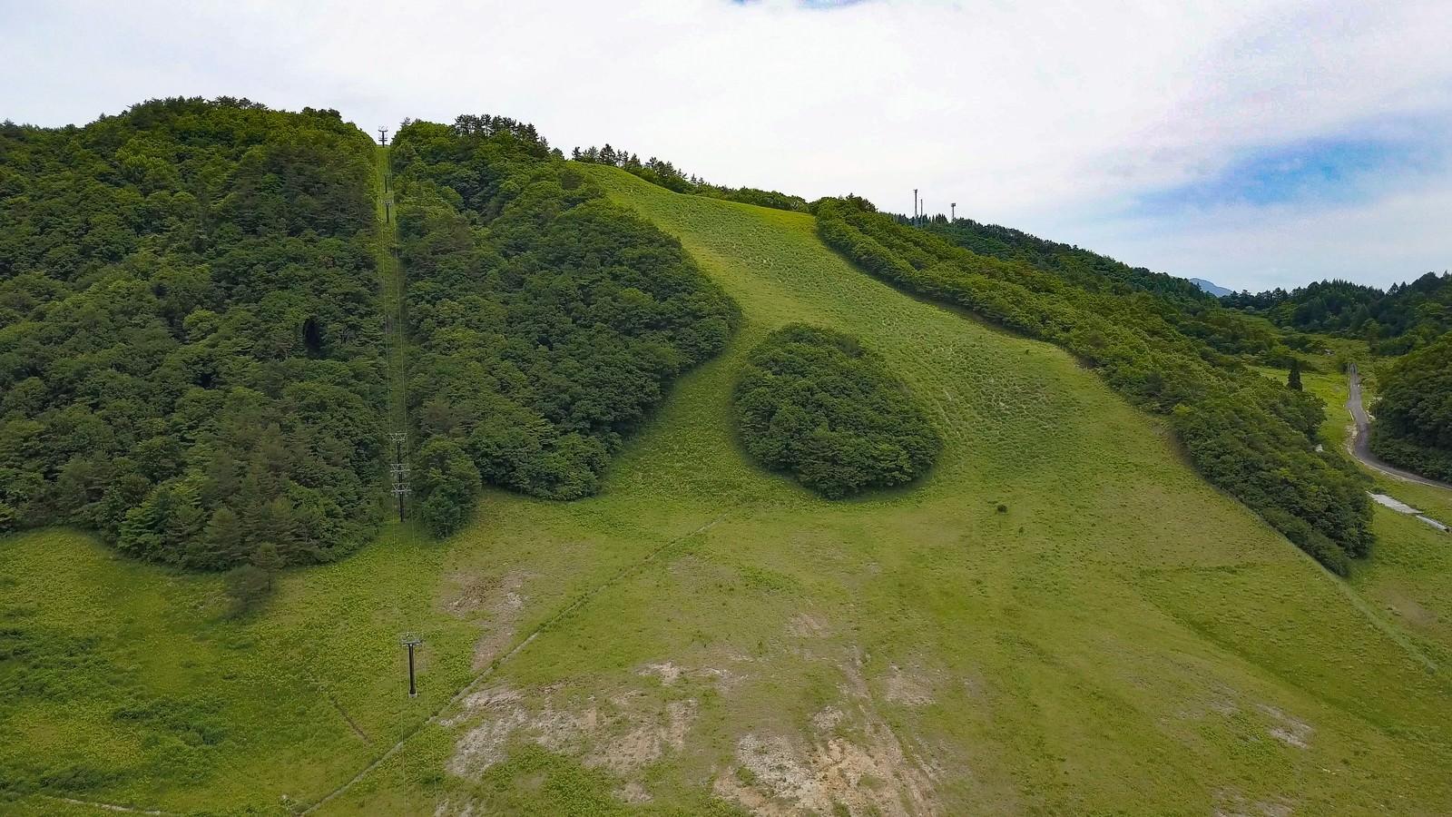 「恩原高原スキー場の初夏(鏡野町)」の写真