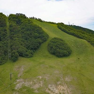 「恩原高原スキー場の初夏(鏡野町)」の写真素材