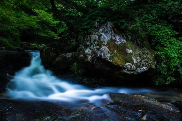 自然が作り出した芸術的景観(鏡野町白賀渓谷)の写真