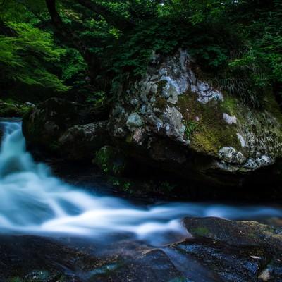 「自然が作り出した芸術的景観(鏡野町白賀渓谷)」の写真素材