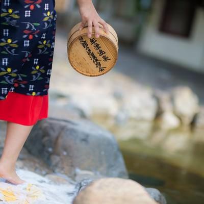 「鏡野町奥津地区に伝承される足踏み洗濯」の写真素材