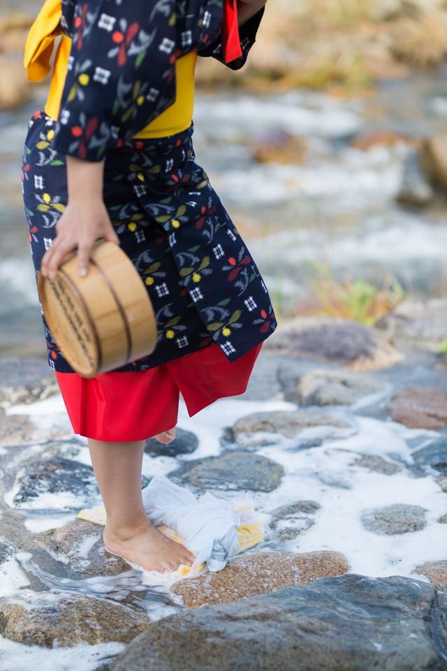 鏡野町に伝わる足踏み洗濯の写真