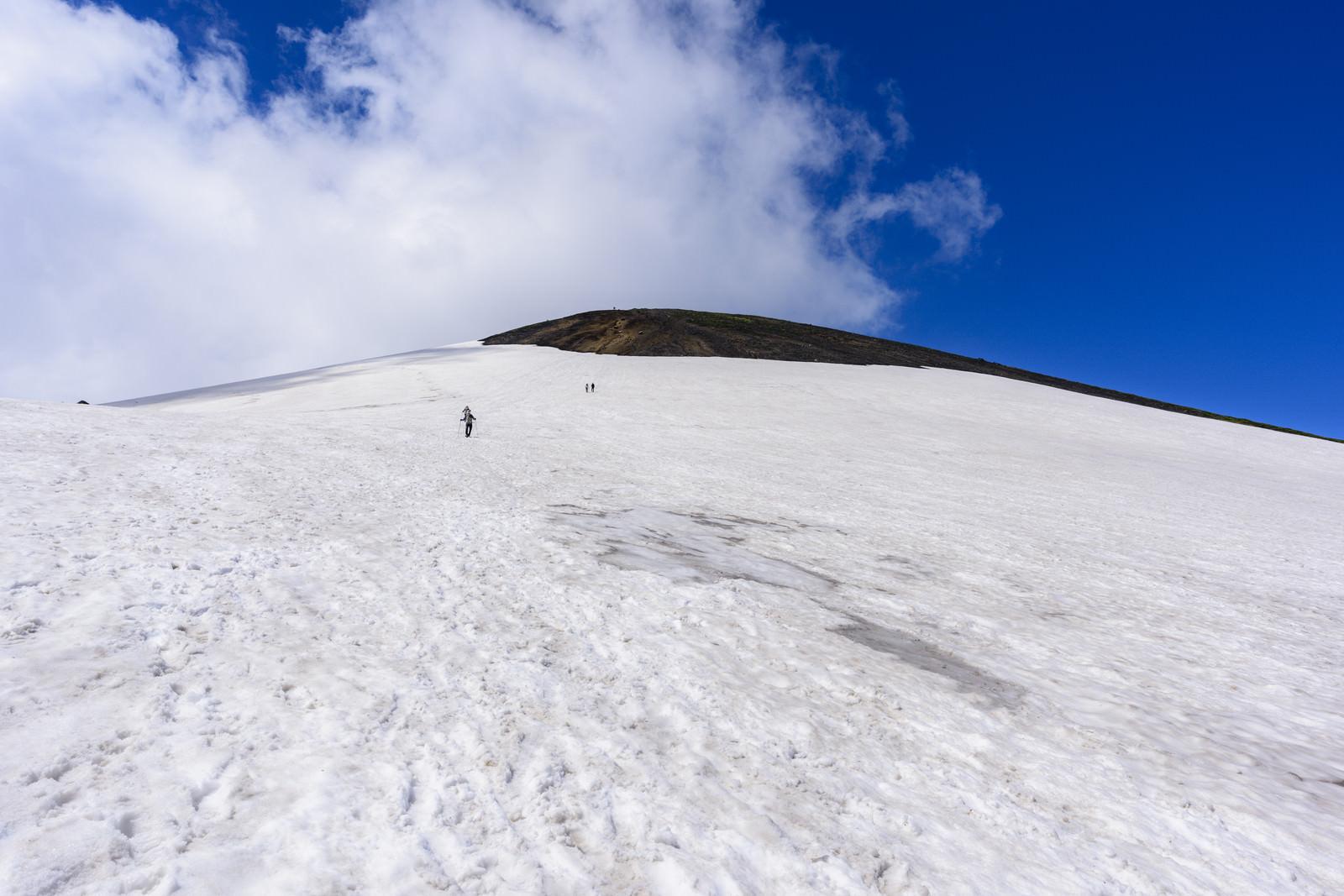 「旭岳の大雪渓」の写真
