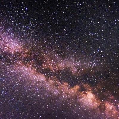 「美しい天の川」の写真素材
