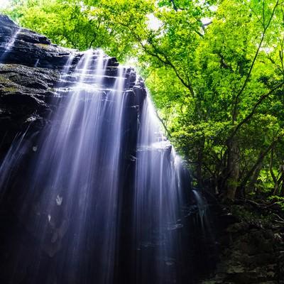 「鏡野町の岩井滝」の写真素材