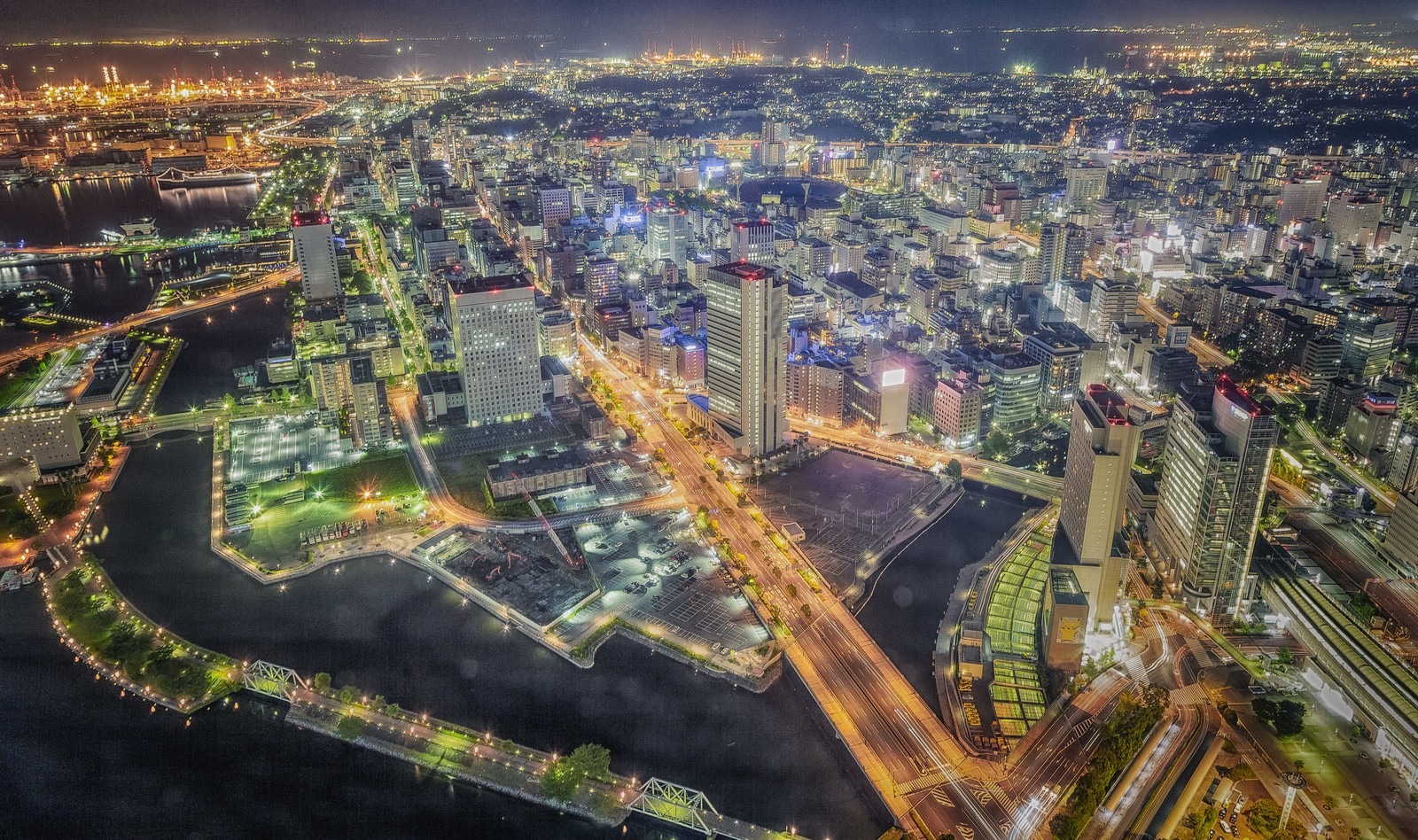 「横浜の夜景(HDR)」の写真