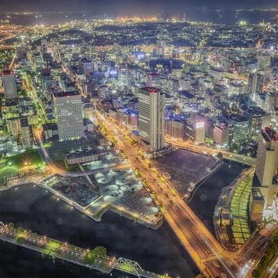 「横浜の夜景(HDR)」の写真素材