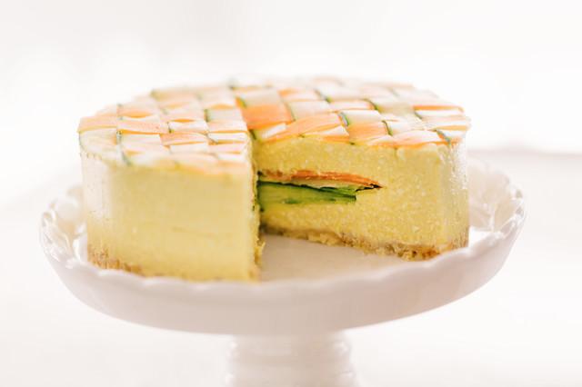 食べ応えのある野菜のベジデコケーキの写真