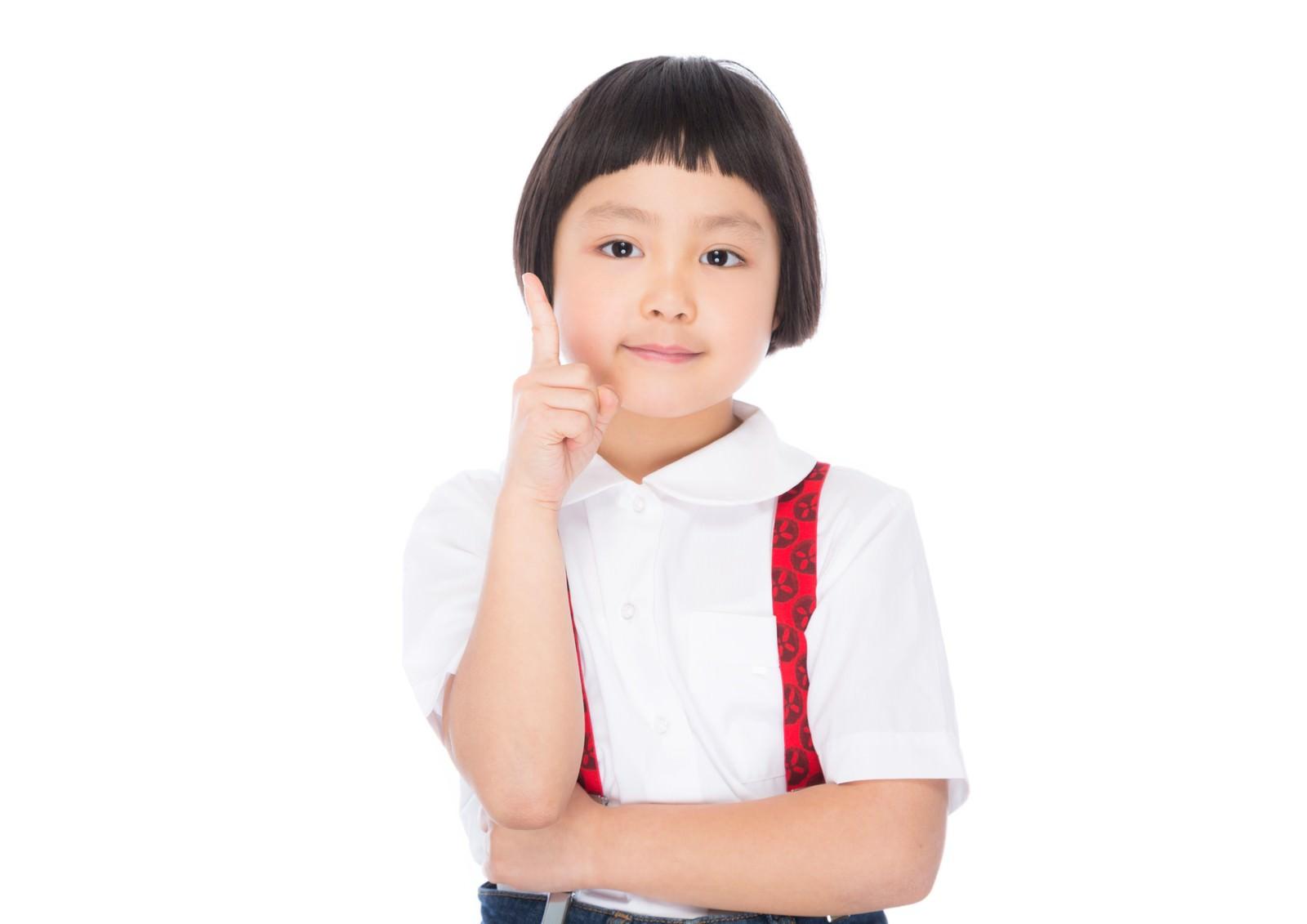 「子供ワンポイントアドバイス!」の写真[モデル:ゆうき]
