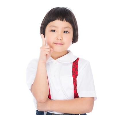 「子供ワンポイントアドバイス!」の写真素材